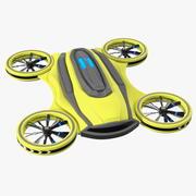 Zangão Quadrocopter de carga amarela 3d model