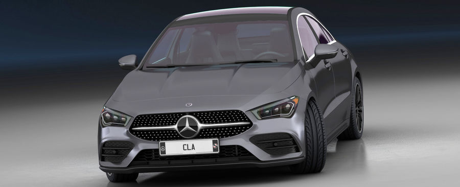 梅赛德斯-奔驰CLA 2020矮内饰 royalty-free 3d model - Preview no. 4