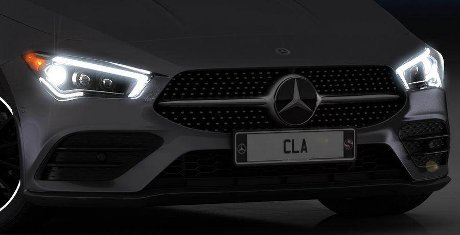 梅赛德斯-奔驰CLA 2020矮内饰 royalty-free 3d model - Preview no. 15