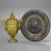 Wimbledon Men Women Singles Trophy L404 3d model