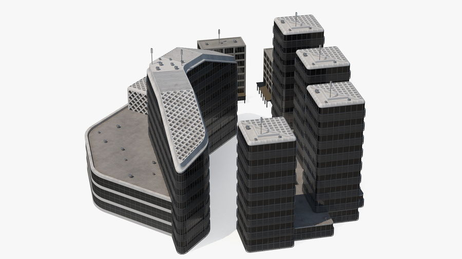 Здание аэропорта royalty-free 3d model - Preview no. 19
