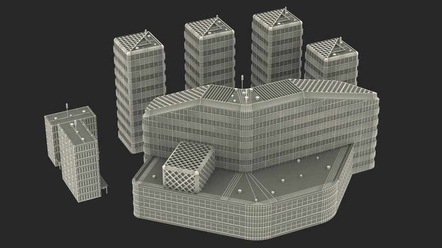 Здание аэропорта royalty-free 3d model - Preview no. 28