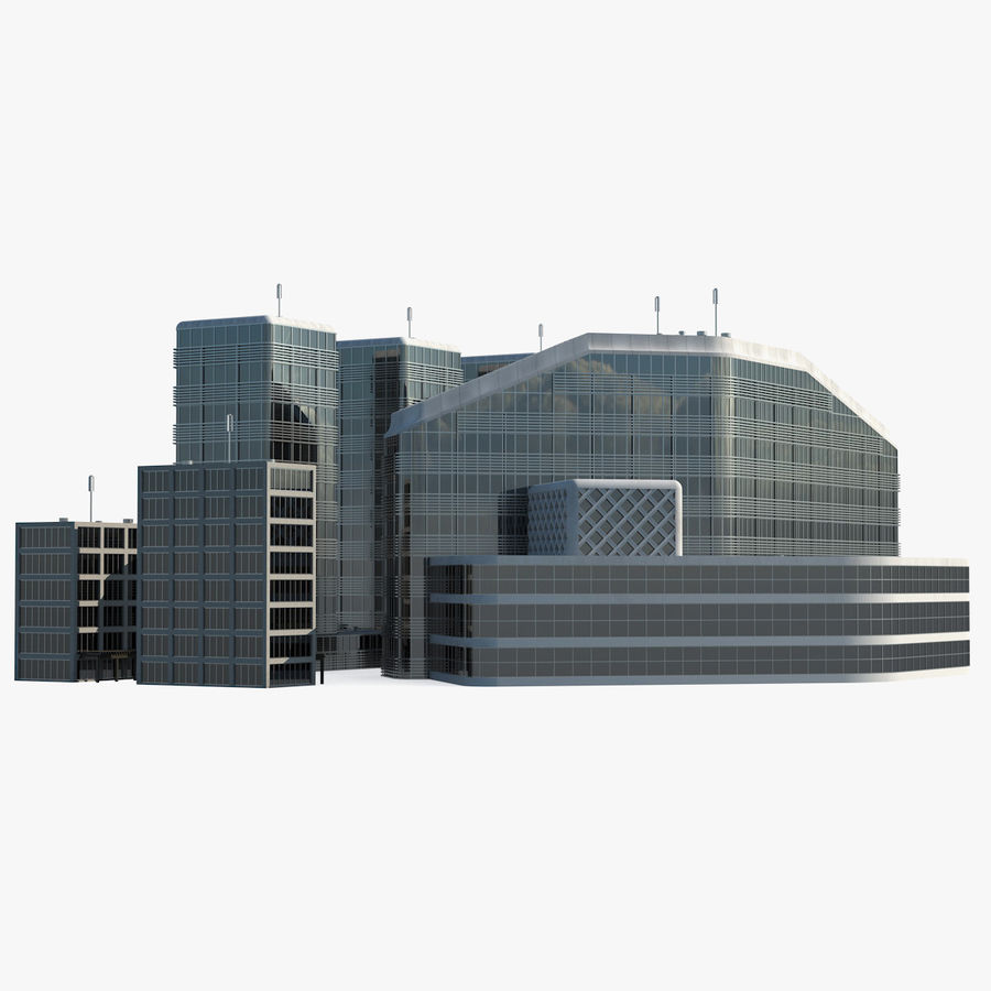 Здание аэропорта royalty-free 3d model - Preview no. 1
