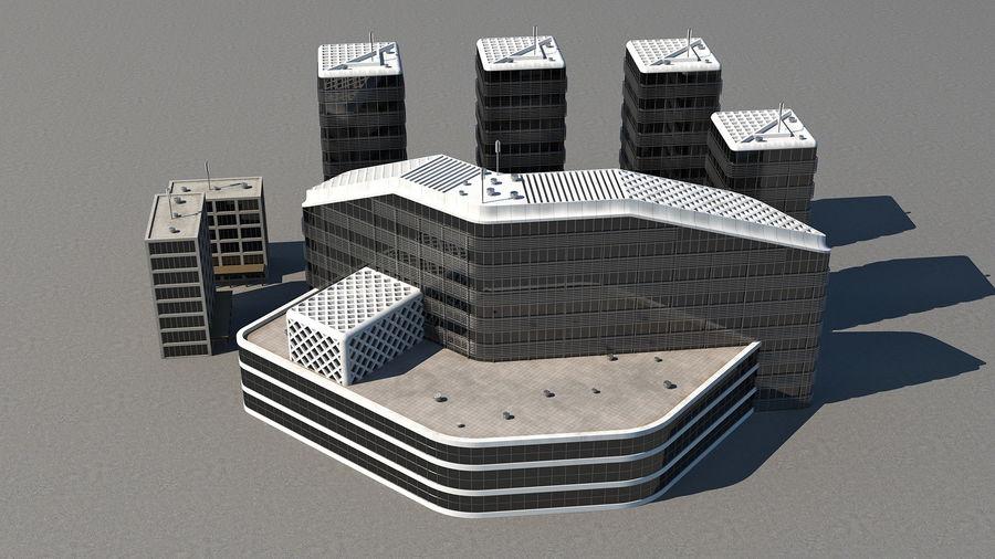 Здание аэропорта royalty-free 3d model - Preview no. 4