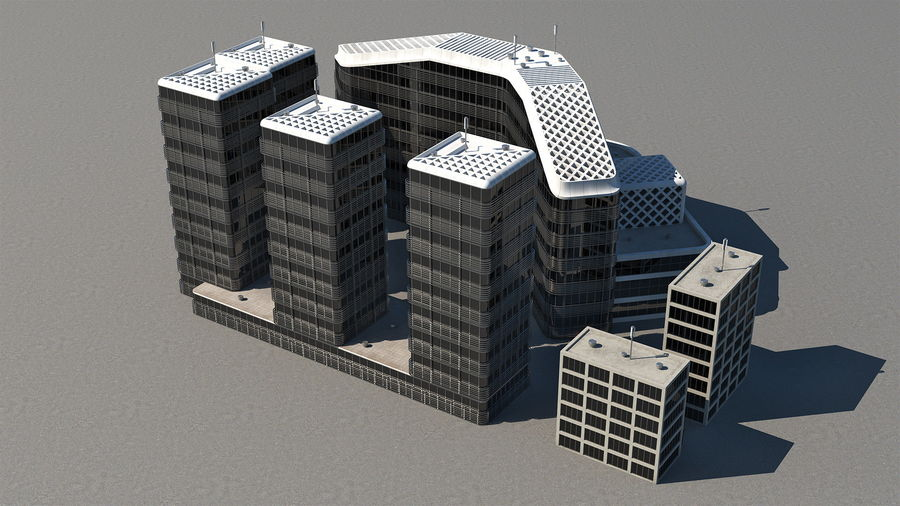 Здание аэропорта royalty-free 3d model - Preview no. 5