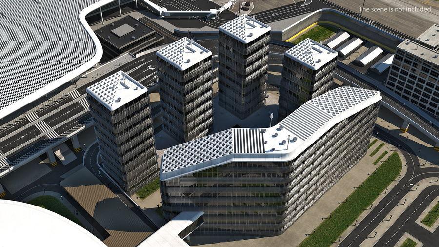 Здание аэропорта royalty-free 3d model - Preview no. 3