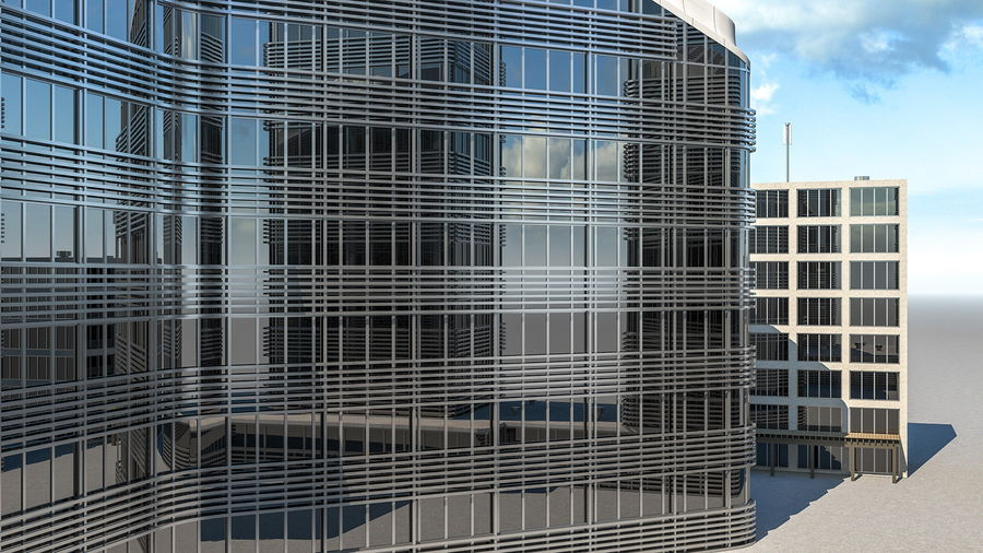 Здание аэропорта royalty-free 3d model - Preview no. 13