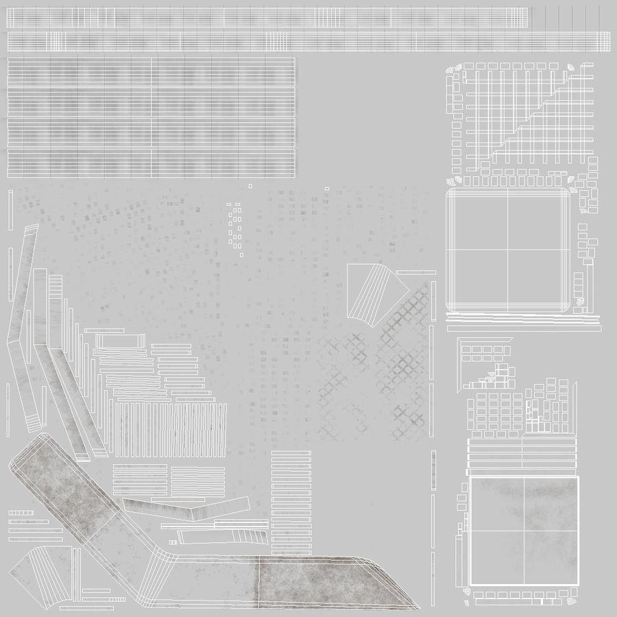 Здание аэропорта royalty-free 3d model - Preview no. 23