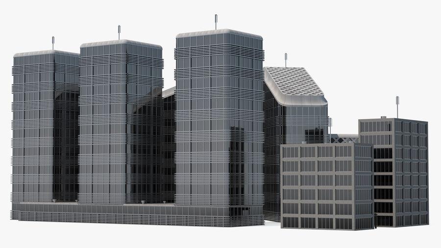 Здание аэропорта royalty-free 3d model - Preview no. 17