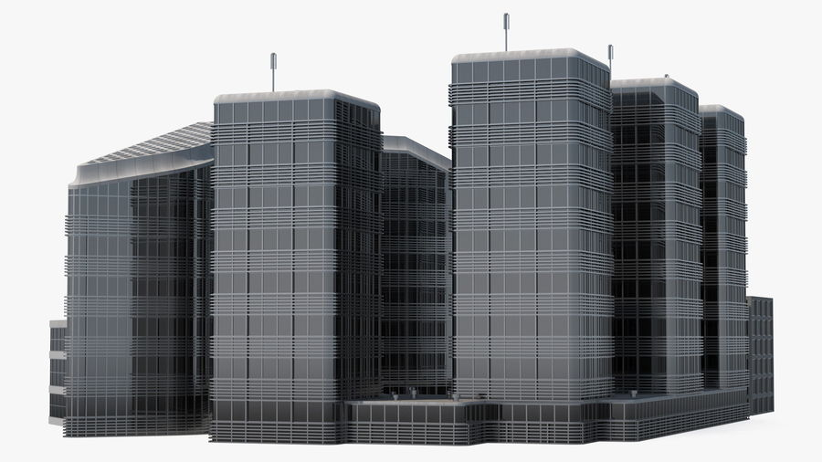 Здание аэропорта royalty-free 3d model - Preview no. 16