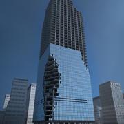 Zniszczony wieżowiec 3d model