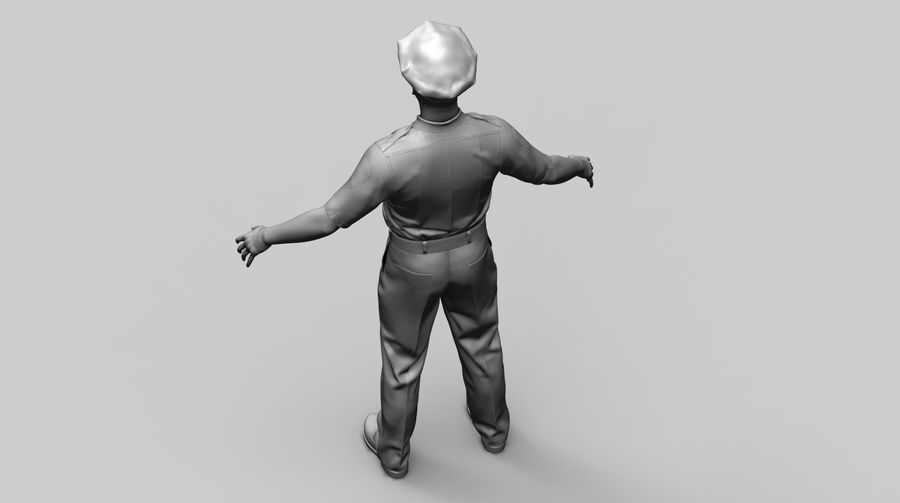 Polis royalty-free 3d model - Preview no. 14