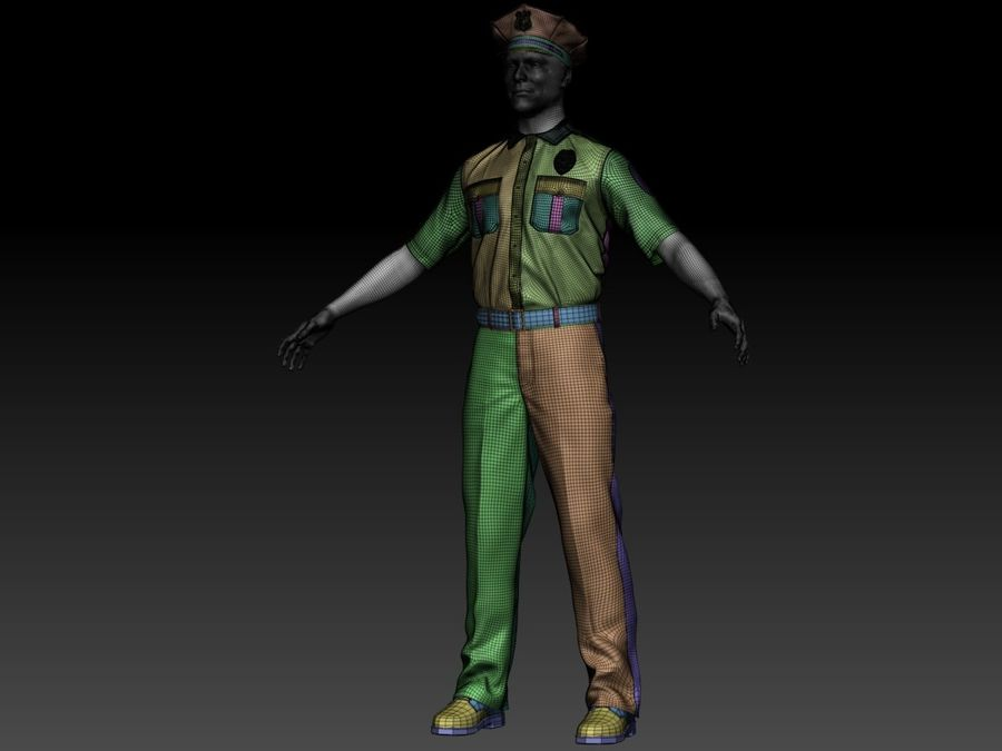 Polis royalty-free 3d model - Preview no. 18