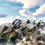 Riffelhorn Mountain 3d model