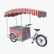 Bicicleta de comida de rua 3d model