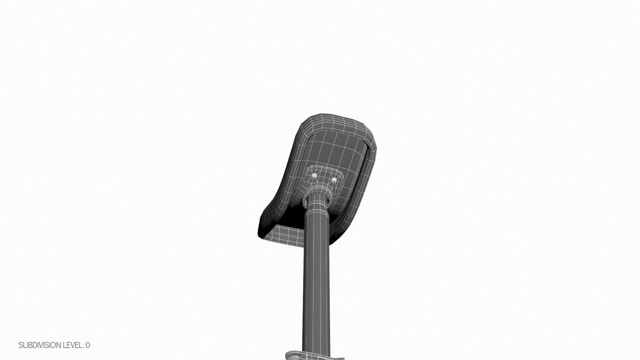 一輪車 royalty-free 3d model - Preview no. 16