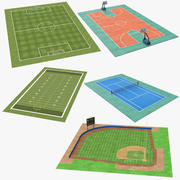 Sports Fields Collection 3d model