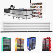食料品店コレクション3 3d model