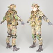 Soldato pronto per il gioco completamente equipaggiato in uniforme Bundeswehr con oggetti di scena 28 3d model