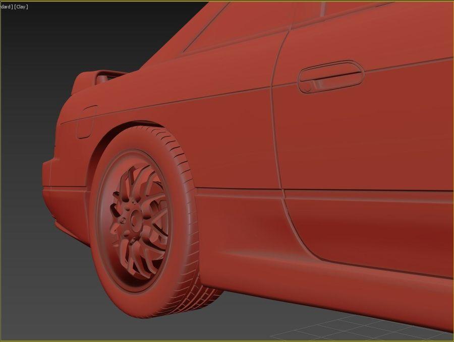 日产西尔维亚S13调整 royalty-free 3d model - Preview no. 9