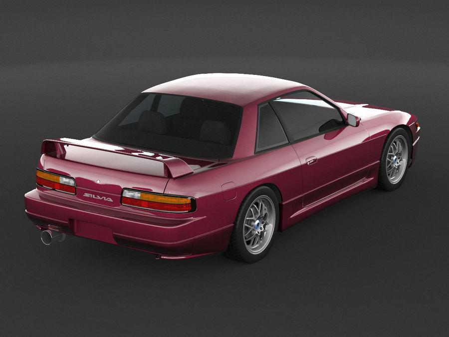 日产西尔维亚S13调整 royalty-free 3d model - Preview no. 7