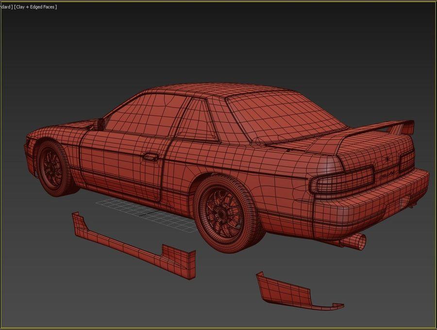 日产西尔维亚S13调整 royalty-free 3d model - Preview no. 11