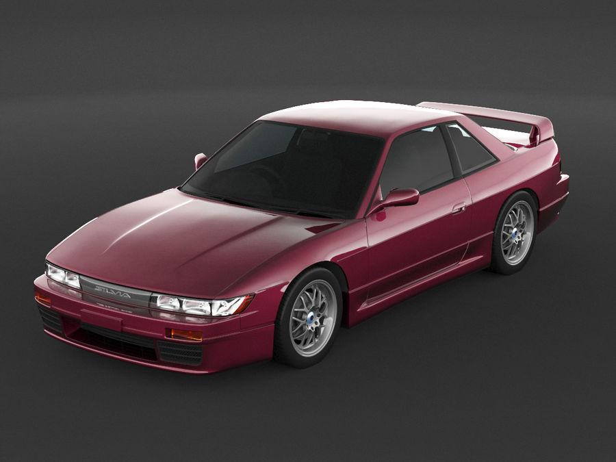 日产西尔维亚S13调整 royalty-free 3d model - Preview no. 6