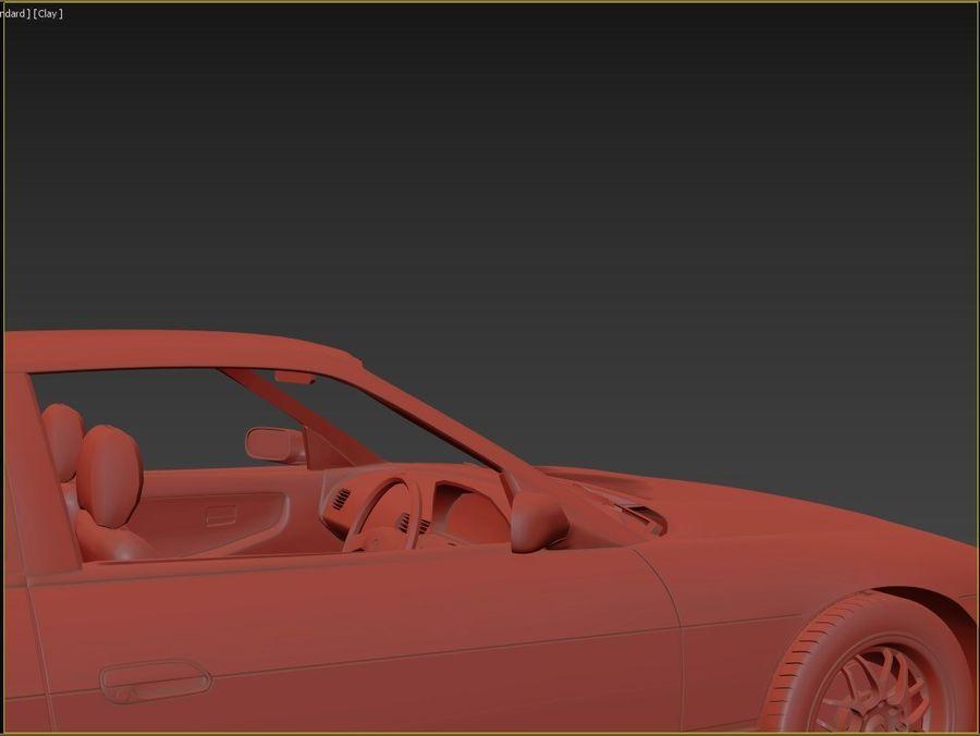 日产西尔维亚S13调整 royalty-free 3d model - Preview no. 13