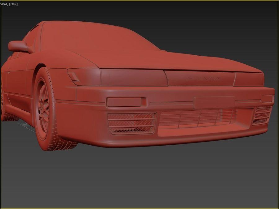 日产西尔维亚S13调整 royalty-free 3d model - Preview no. 8
