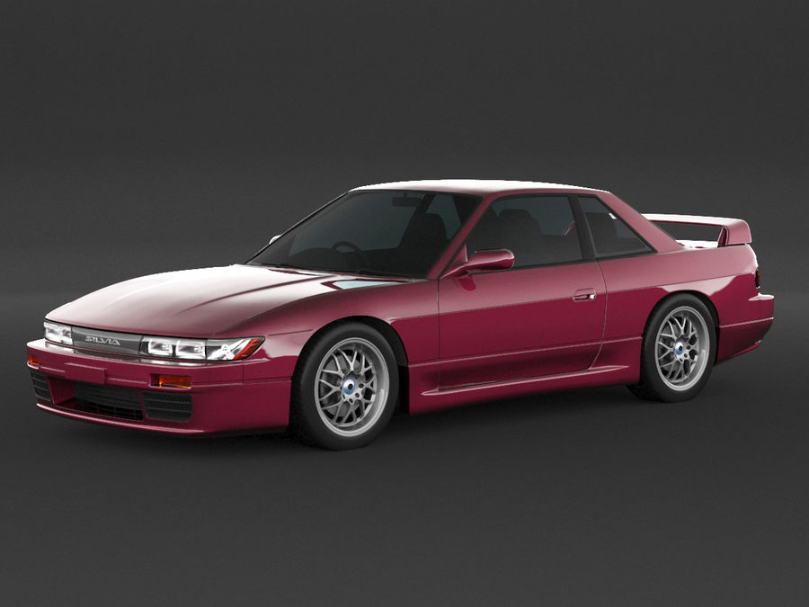 日产西尔维亚S13调整 royalty-free 3d model - Preview no. 1