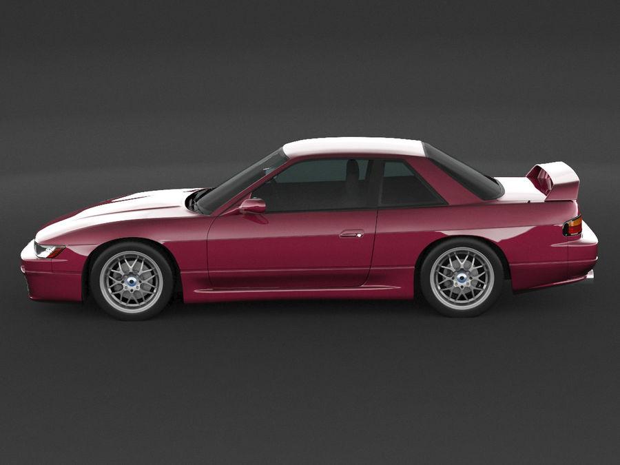 日产西尔维亚S13调整 royalty-free 3d model - Preview no. 5