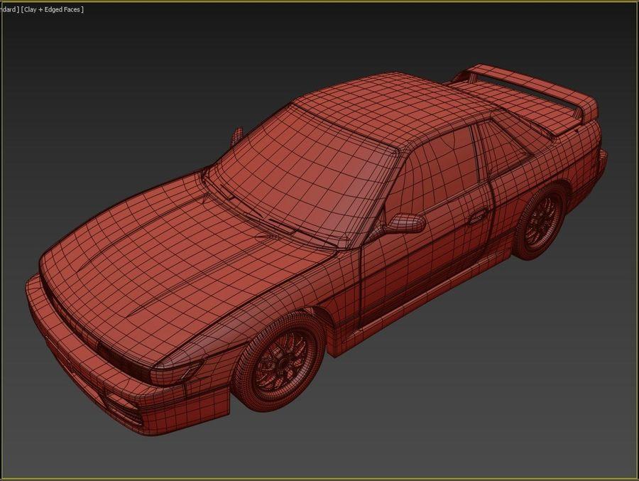 日产西尔维亚S13调整 royalty-free 3d model - Preview no. 12