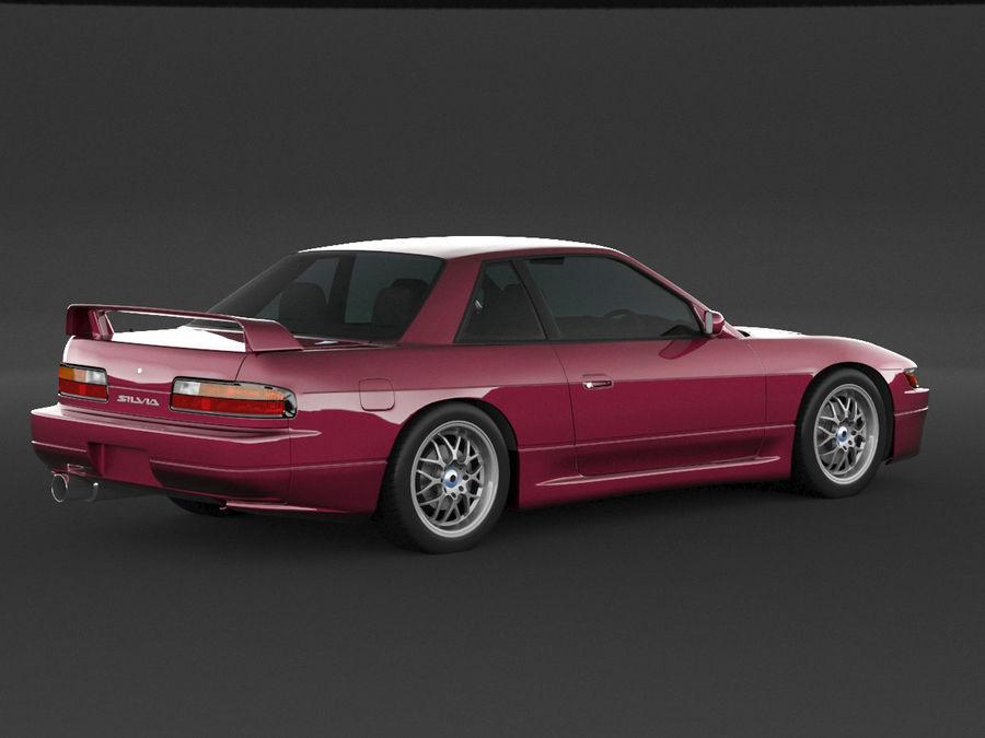 日产西尔维亚S13调整 royalty-free 3d model - Preview no. 2