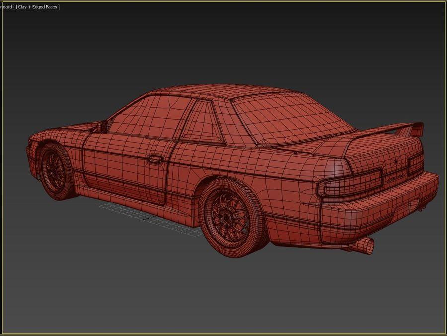 日产西尔维亚S13调整 royalty-free 3d model - Preview no. 10