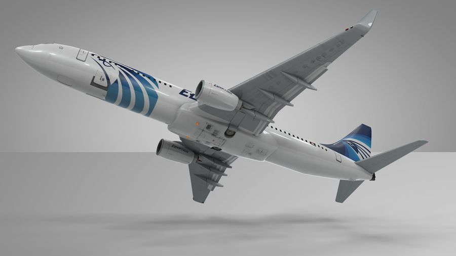 EGYPTAIR Boeing 737-800 L435 royalty-free 3d model - Preview no. 17