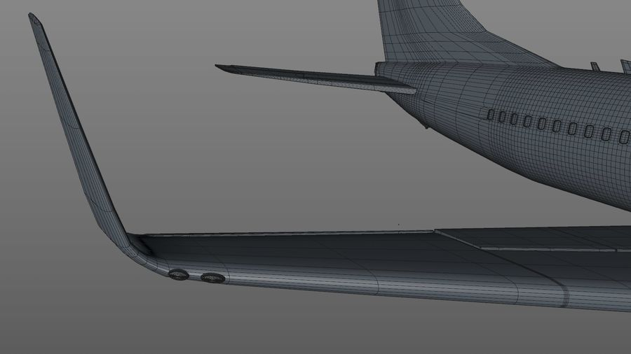 EGYPTAIR Boeing 737-800 L435 royalty-free 3d model - Preview no. 28