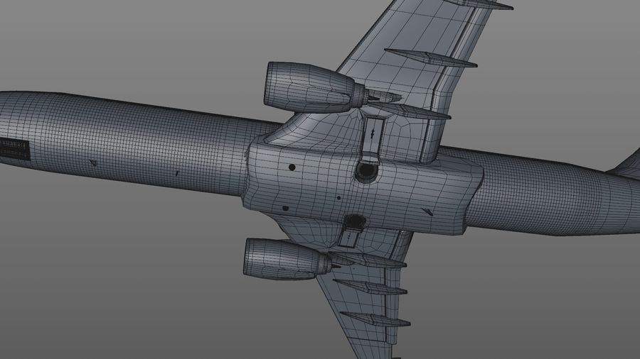 EGYPTAIR Boeing 737-800 L435 royalty-free 3d model - Preview no. 39