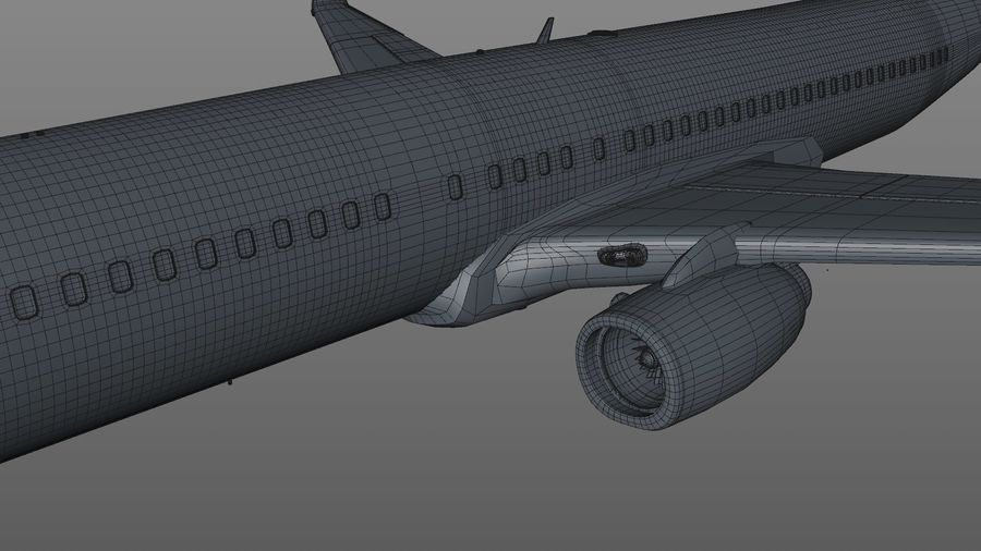EGYPTAIR Boeing 737-800 L435 royalty-free 3d model - Preview no. 22