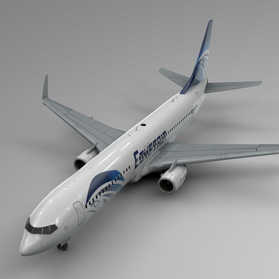 EGYPTAIR Boeing 737-800 L435 royalty-free 3d model - Preview no. 1