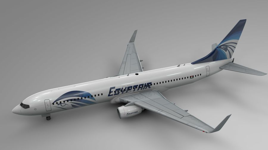 EGYPTAIR Boeing 737-800 L435 royalty-free 3d model - Preview no. 3