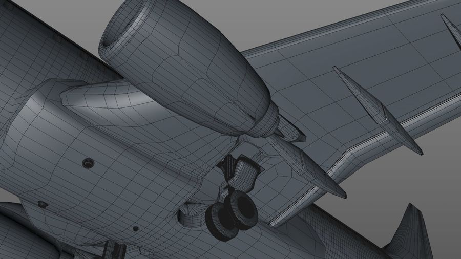 EGYPTAIR Boeing 737-800 L435 royalty-free 3d model - Preview no. 32