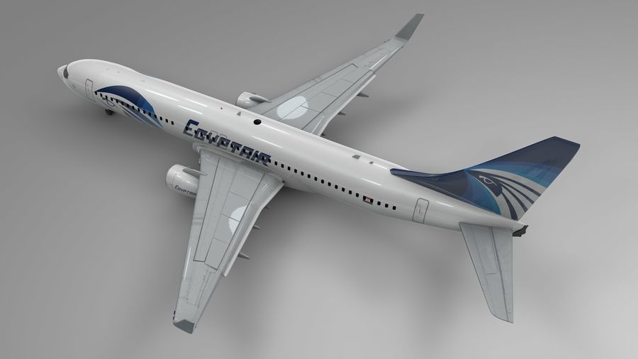 EGYPTAIR Boeing 737-800 L435 royalty-free 3d model - Preview no. 4