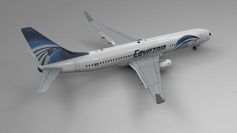 EGYPTAIR Boeing 737-800 L435 royalty-free 3d model - Preview no. 5