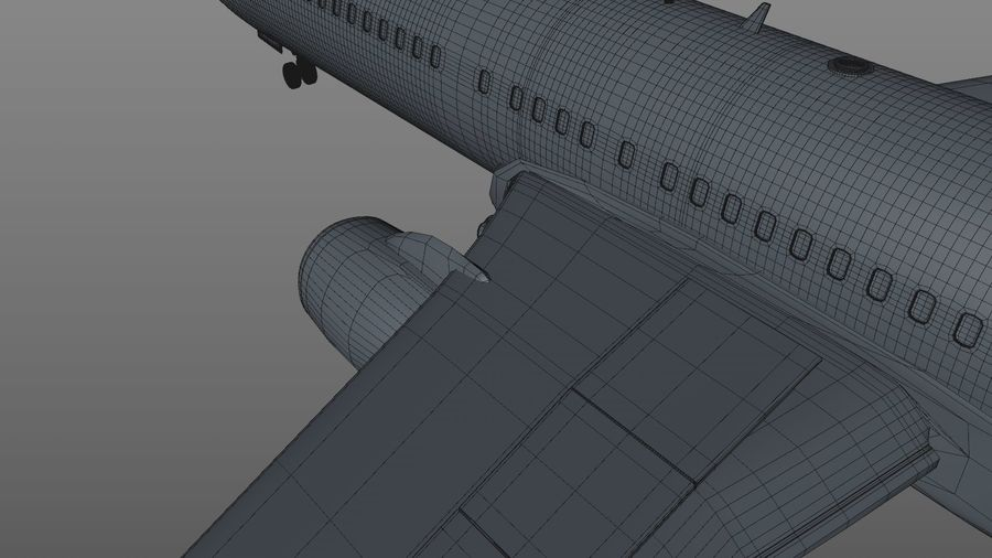 EGYPTAIR Boeing 737-800 L435 royalty-free 3d model - Preview no. 30