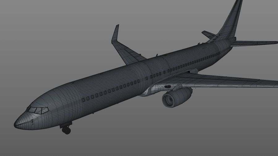 EGYPTAIR Boeing 737-800 L435 royalty-free 3d model - Preview no. 42
