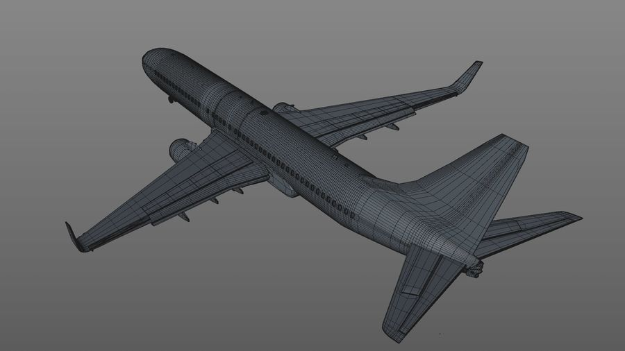 EGYPTAIR Boeing 737-800 L435 royalty-free 3d model - Preview no. 29
