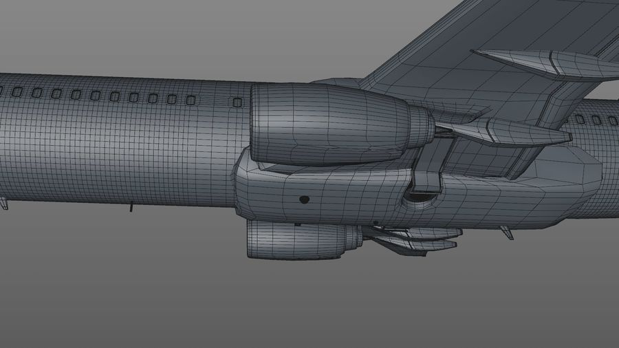 EGYPTAIR Boeing 737-800 L435 royalty-free 3d model - Preview no. 40