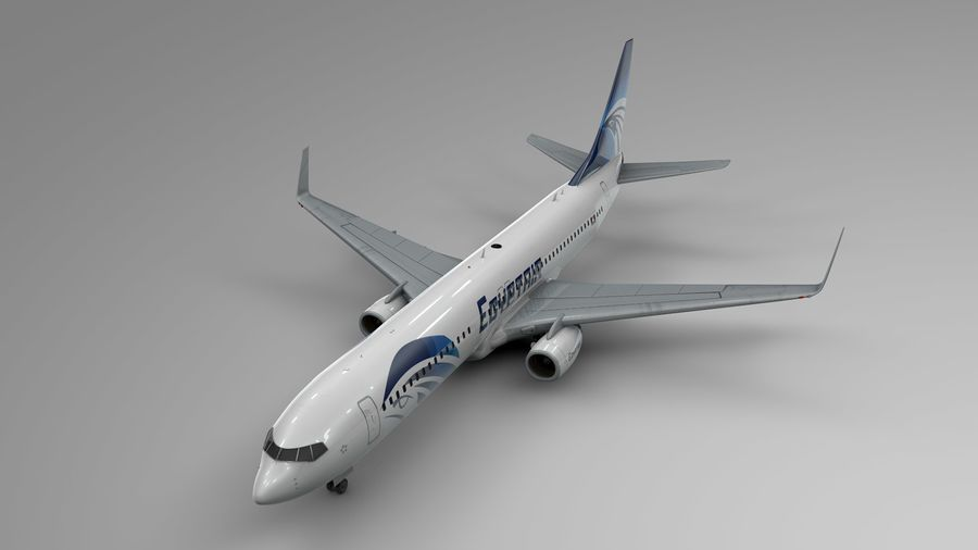 EGYPTAIR Boeing 737-800 L435 royalty-free 3d model - Preview no. 2