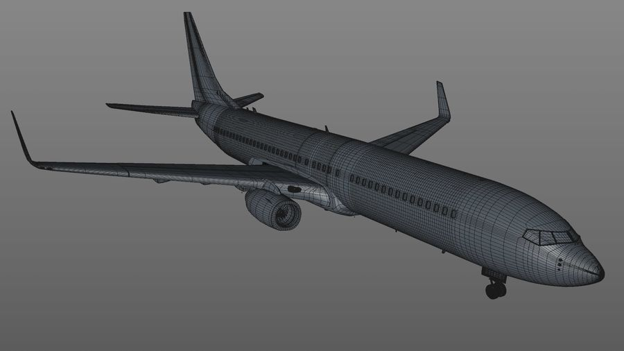 EGYPTAIR Boeing 737-800 L435 royalty-free 3d model - Preview no. 27
