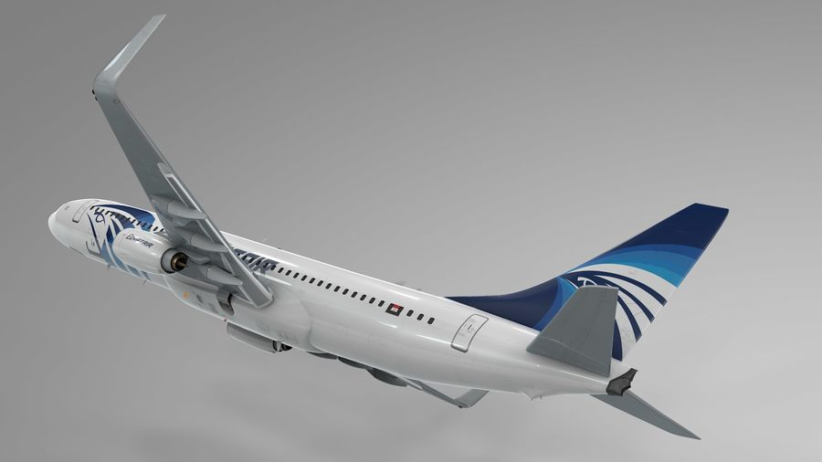 EGYPTAIR Boeing 737-800 L435 royalty-free 3d model - Preview no. 19